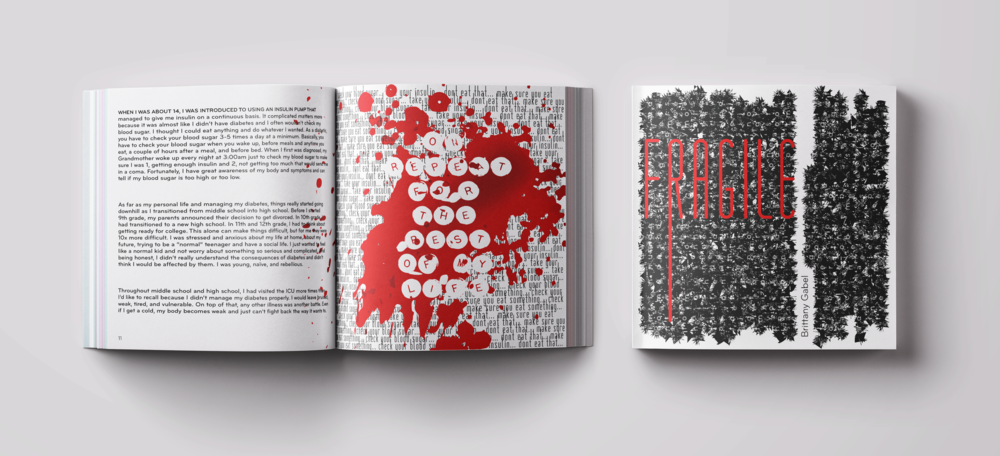 FRAGILE - Typography Book Design