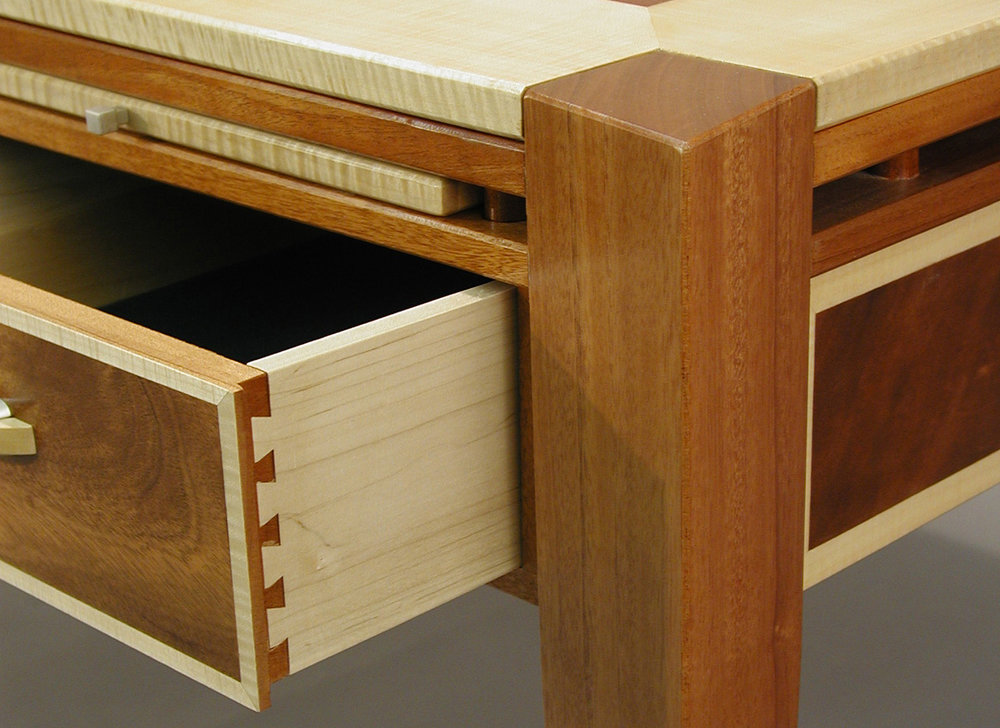Fleming Partner's Desk, Drawer Detail