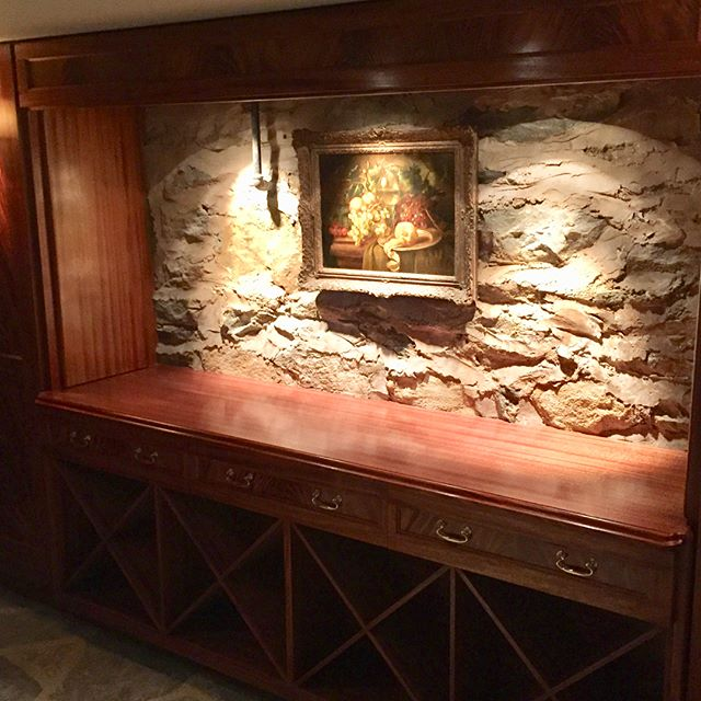 The #mahogany #winecellar project is complete.  Here are a few pictures, along with a couple of 'before' photos.