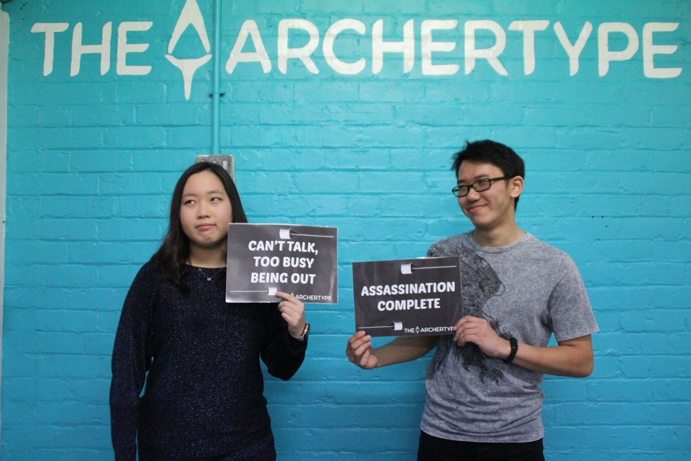 Couples love shooting each other too at The Archertype!