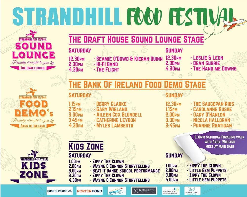 Strandhill Food Festival Schedule