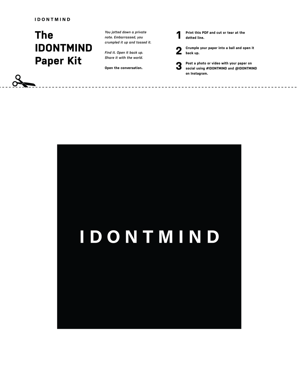 IDONTMIND Paper Kit