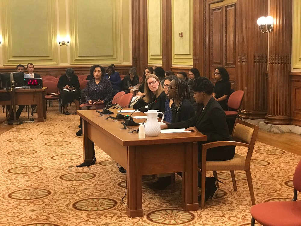 Sarah Barclay Hoffman and Dr. Stacy Hodgkinson Testify at the hearing for    B22-0172    in support of the Maternal Mental Health Task Force Act of 2017.