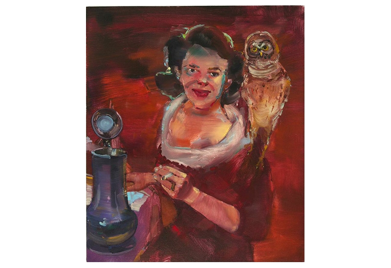 Owl (Older White Lesbian Painting for Carrie Moyer and Sheila Pepe)