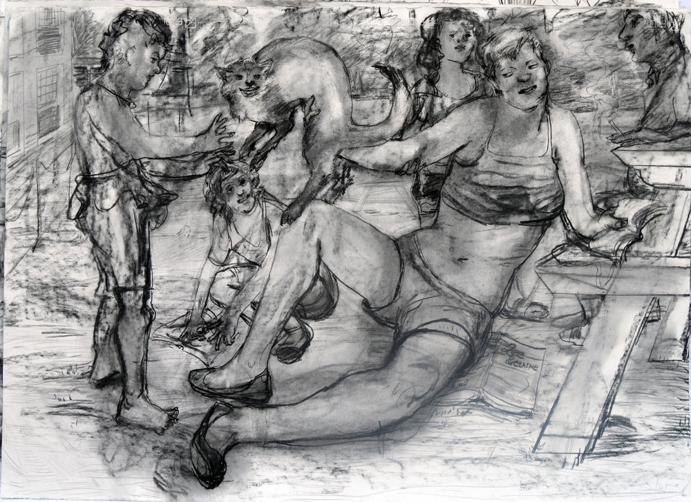 Poertry Lessons?  28 by 40 inches charcoal on paper 2017.jpg