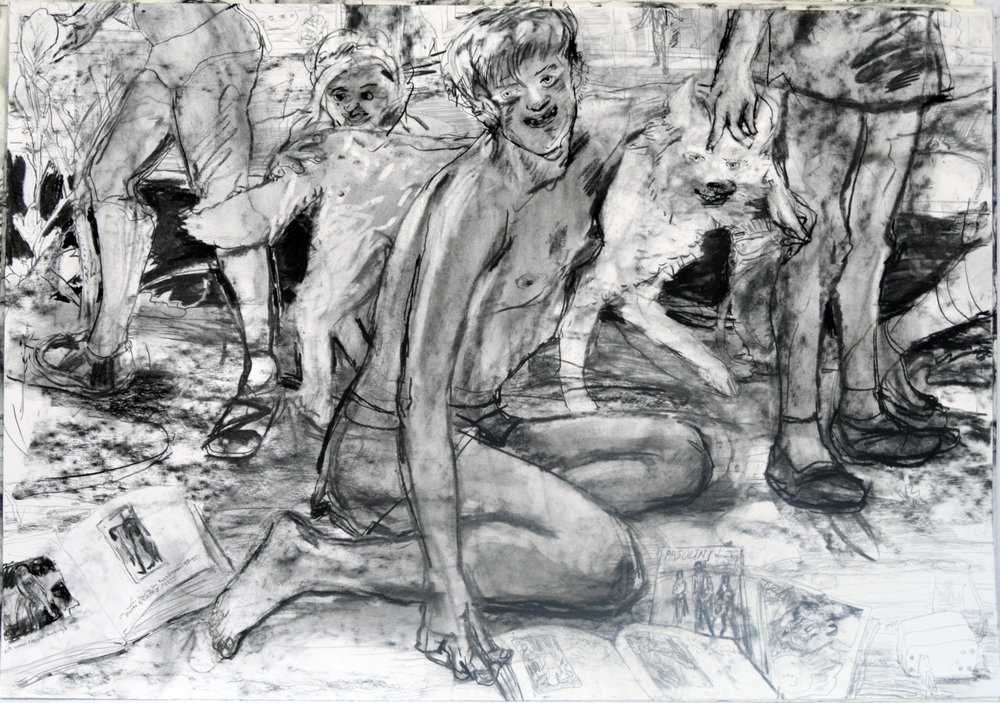 Trail Lessons?  28 by 40 inches charcoal on paper 2017.jpg