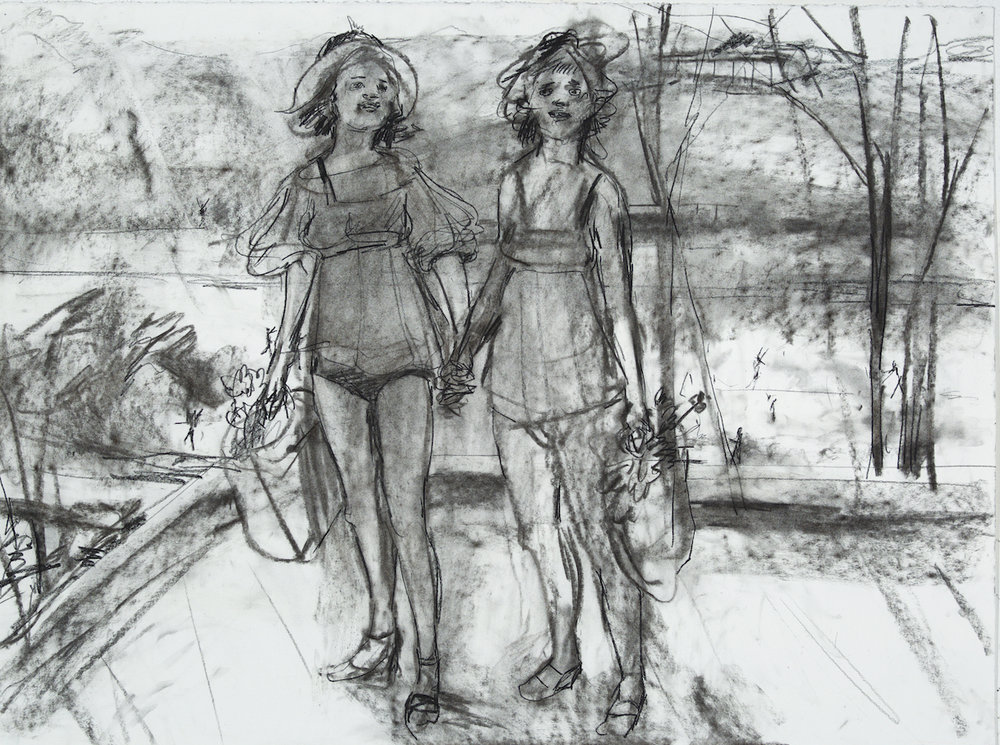Coupling charcoal 28 by 40 inches 2015.jpg