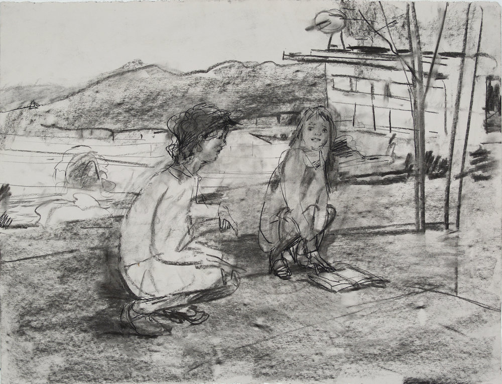 Squats charcoal 28 by 40 inches 2015.jpg
