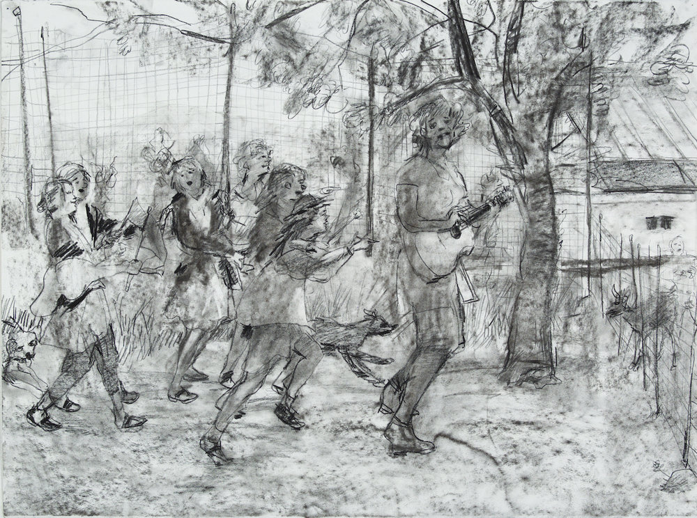 de-Band charcoal 28 by 40 inches 2015.jpg