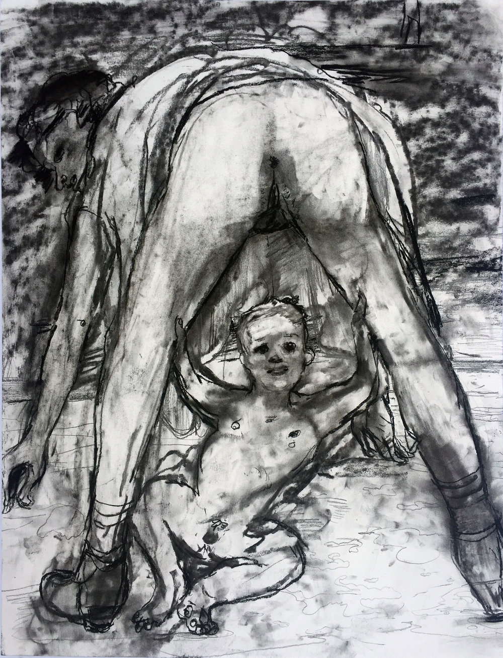 Birthday 18 by 24 inches charcoal on paper 2017.jpg