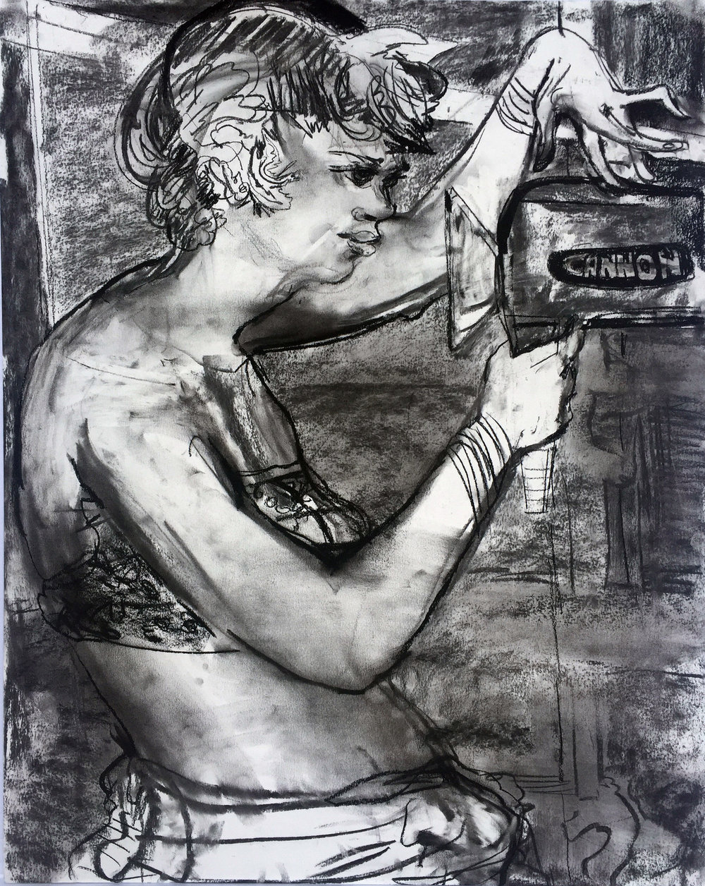 Camera Mom J Baker18 by 24 inches charcoal on paper 2017.jpg