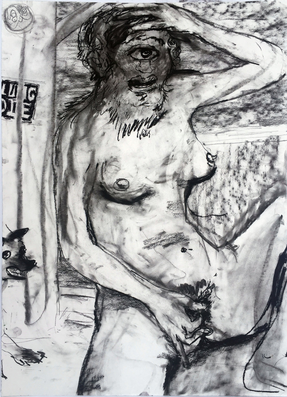 Cyclopes 18 by 24 inches charcoal on paper 2017.jpg