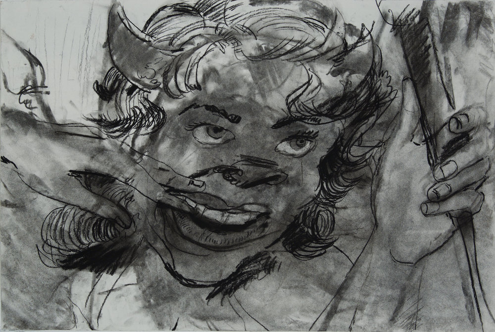 finger fuck charcoal 24 by 18 inches 2015.jpg