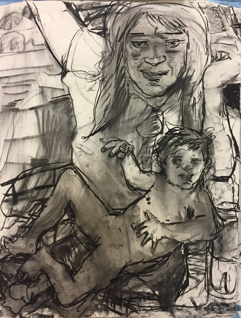 Mamma 18 by 24 inches charcoal on paper 2017.jpg
