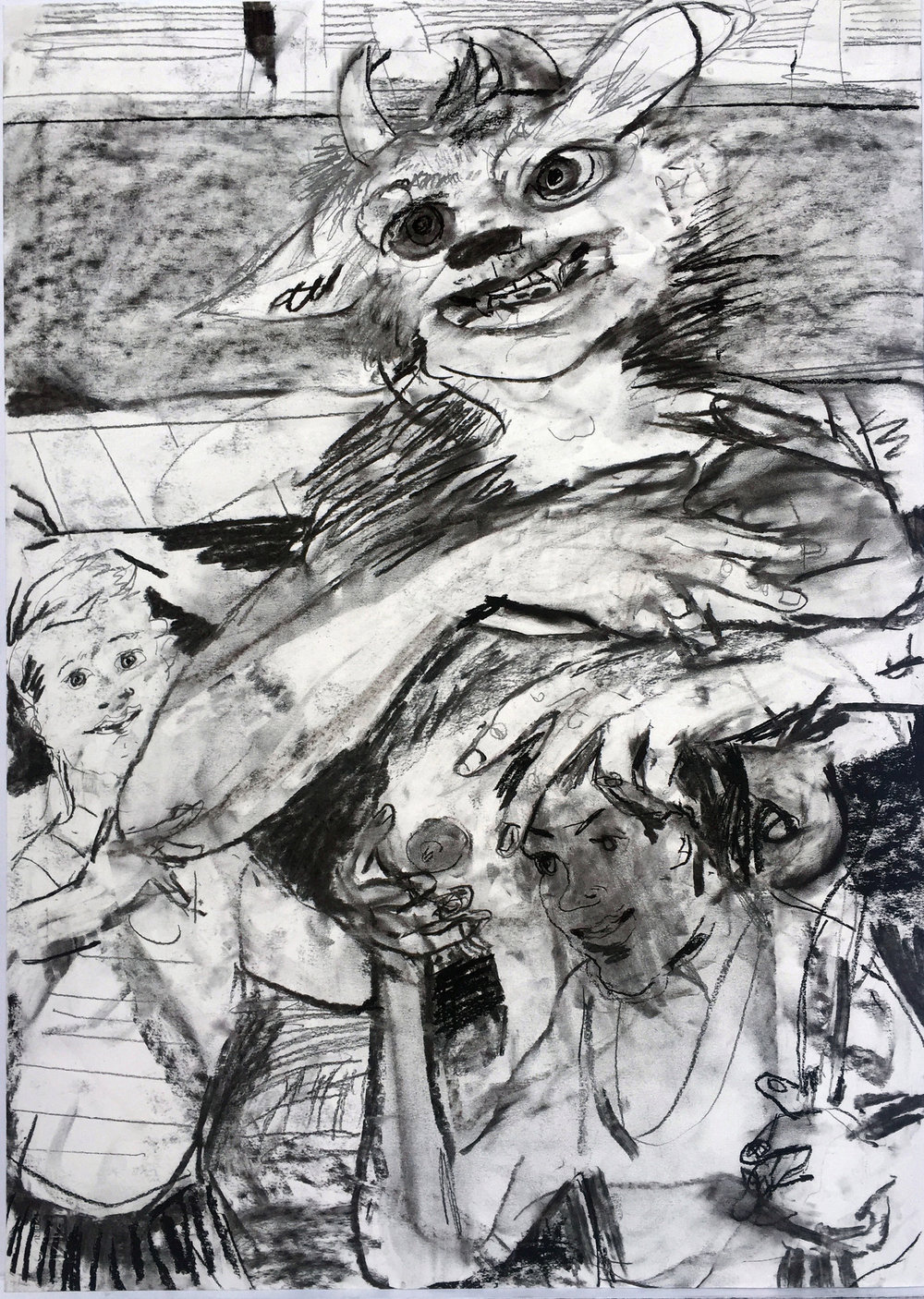 Protection 18 by 24 inches charcoal on paper 2017.jpg
