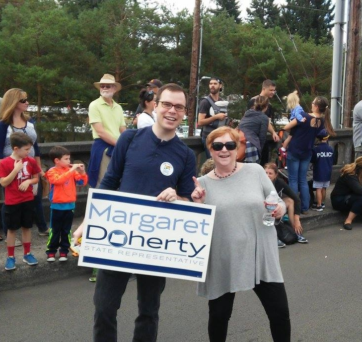 Team Doherty in the Multnomah Days Parade.