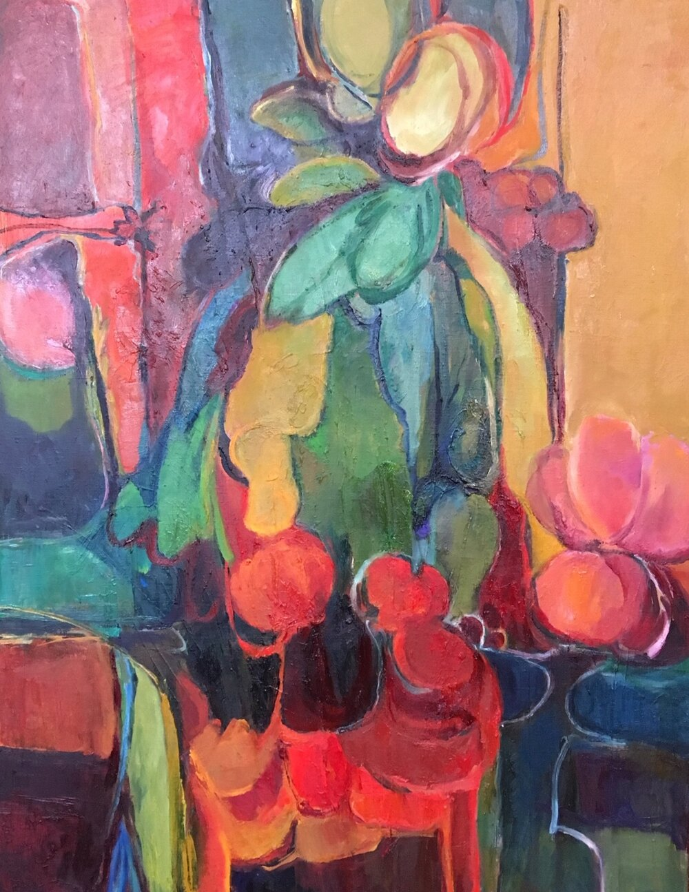 Flower Vendor, 34 x 26 inches