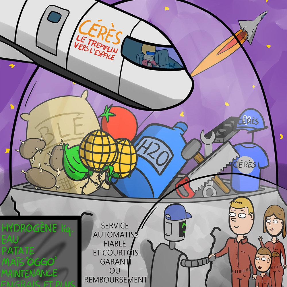 HYDRO 2 GO - ÉCOSYSTÈME : CÉRÈS, Corps céleste de la ceinture d'astéroïdeMEMBRE DE L'ÉQUIPE : Laurent Patry Beaudoin, Théophile Bégin