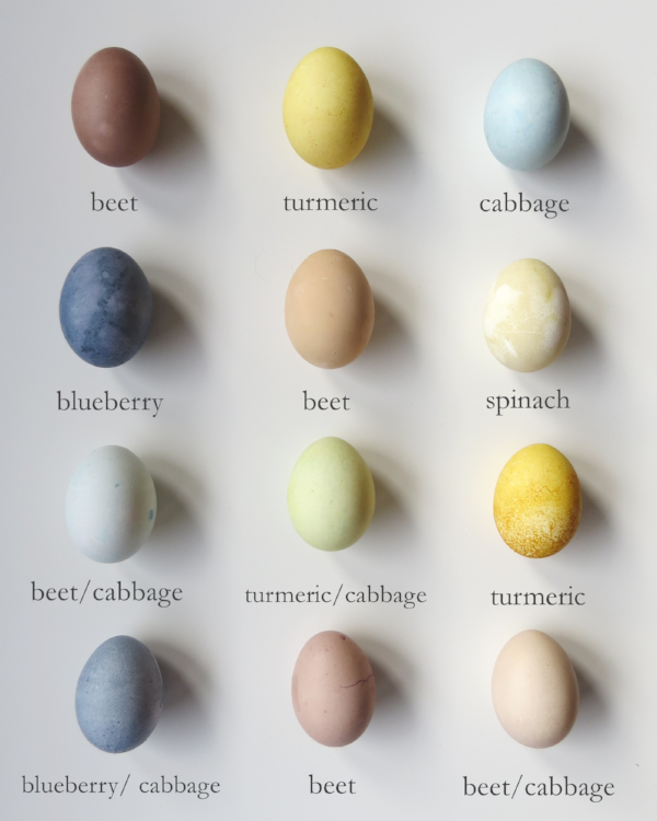 how to dye easter eggs naturally at Foraged Home