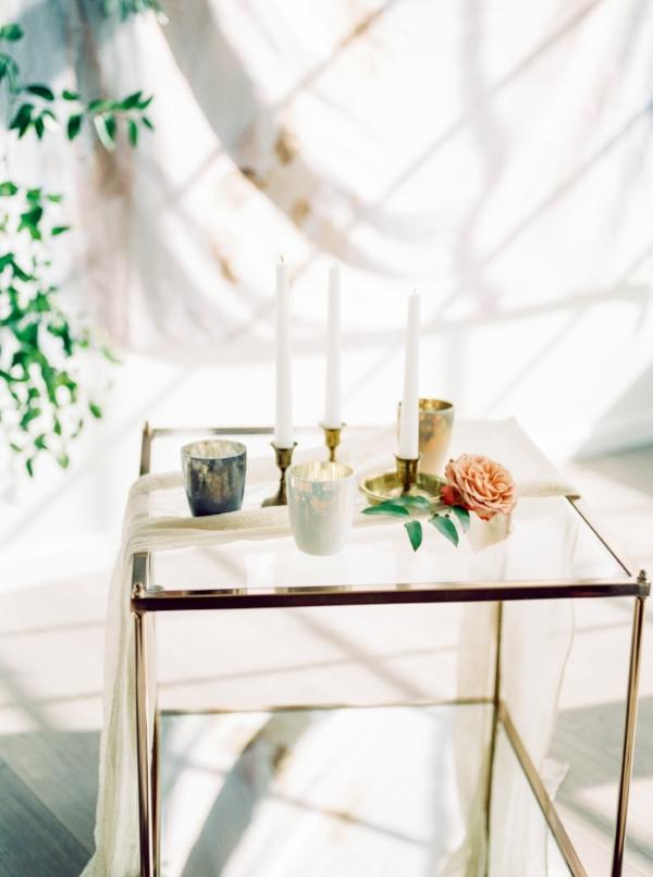 pastel color votive holders wedding foraged home