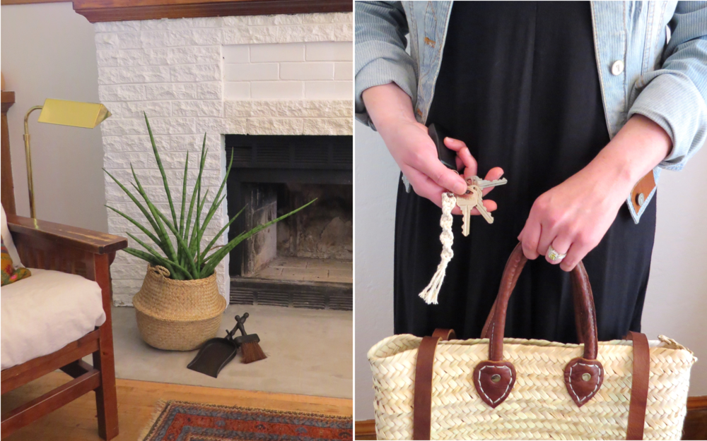 Iron Broom and Dust Pan    Macrame Keychain