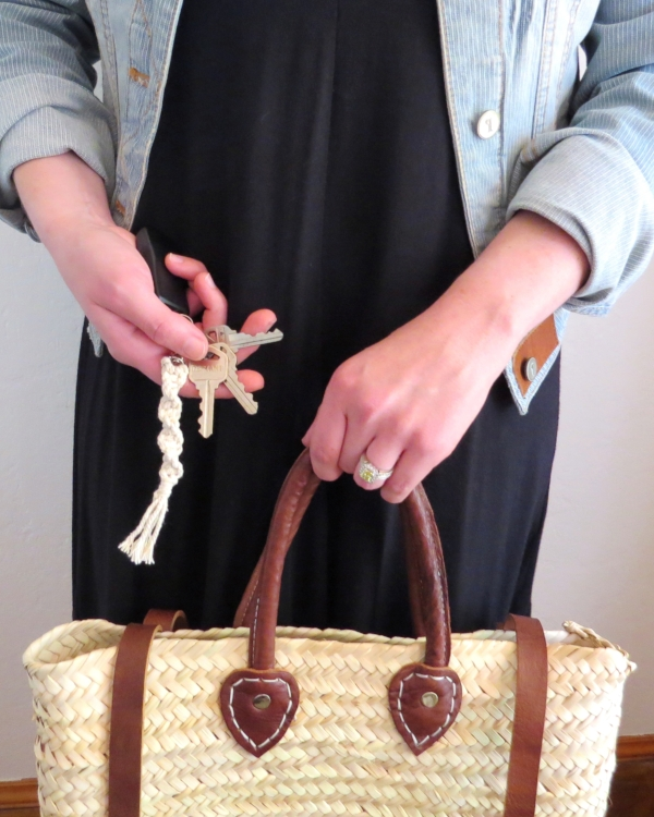 Straw basket backpack from Foragedhome.com