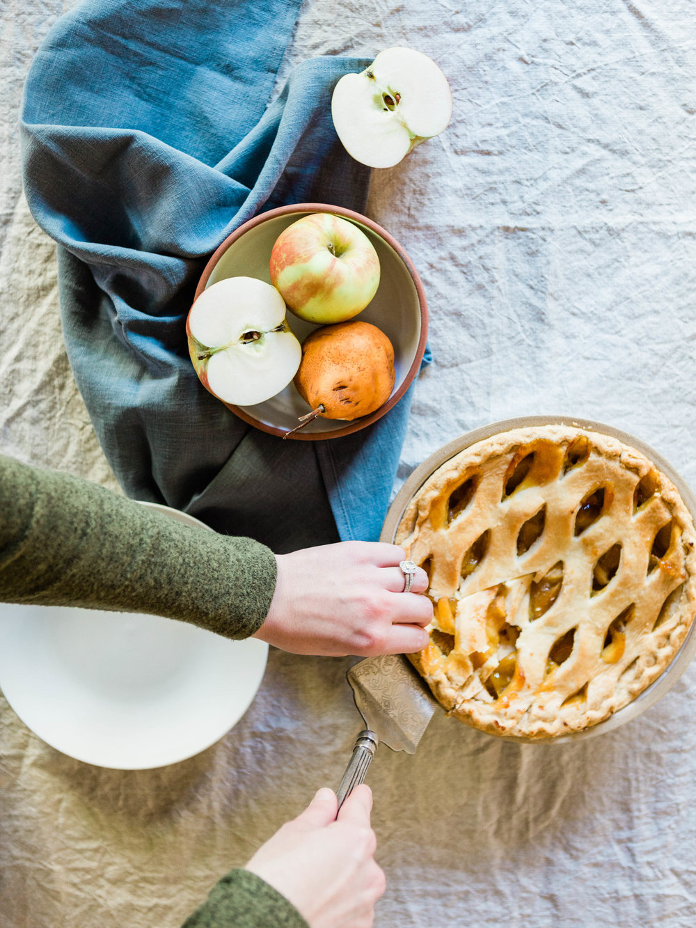Beautiful ceramic pie dish and bowl from Foraged Home