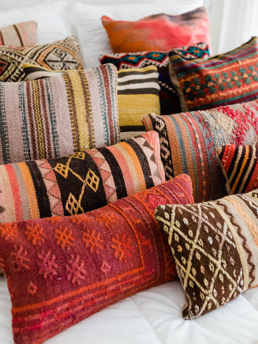 Kilim pillow covers in all colors from Foraged Home