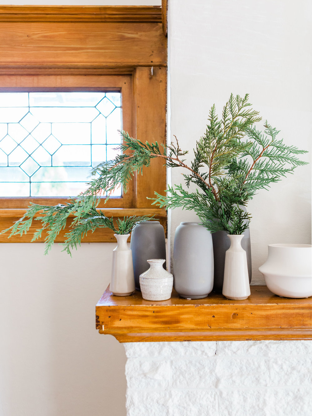 simple mantle decor for the new year from foraged home