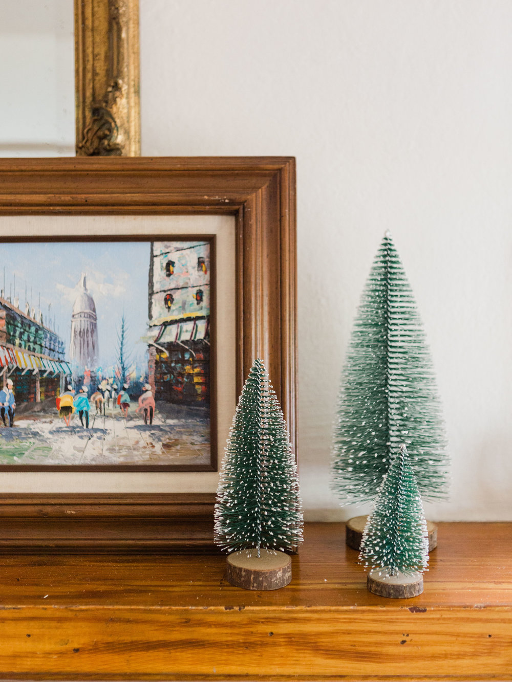 vintage bottle brush tree from foragedhome.com