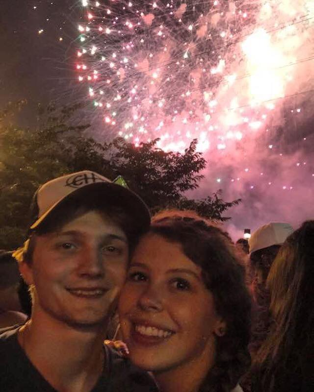 Me and Zak downtown Nashville on the 4th of July!