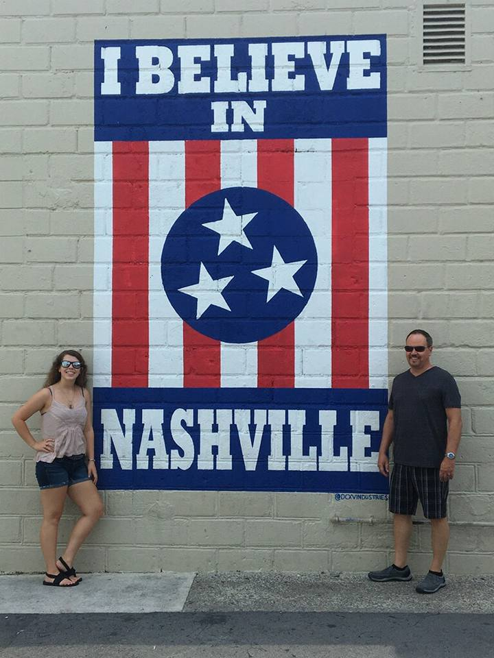 Me and Paul at the I believe in Nashville mural!