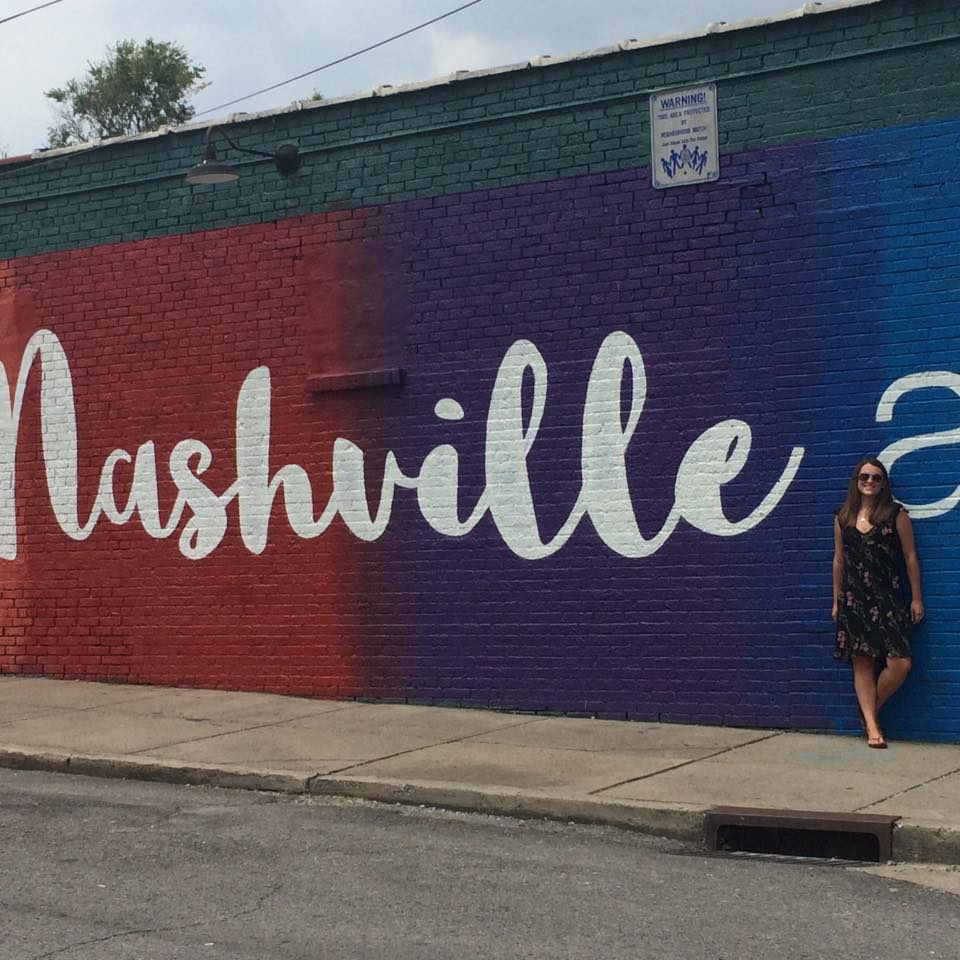 Gabrielle Sophia at the Nashville mural! I took this photo haha :D
