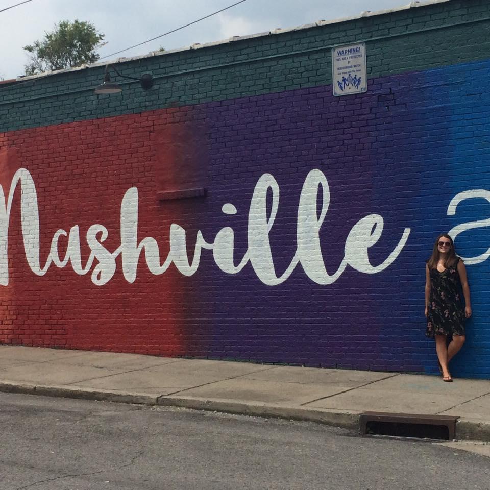 Gabrielle Sophia at the Nashville mural! I took this photo haha :D
