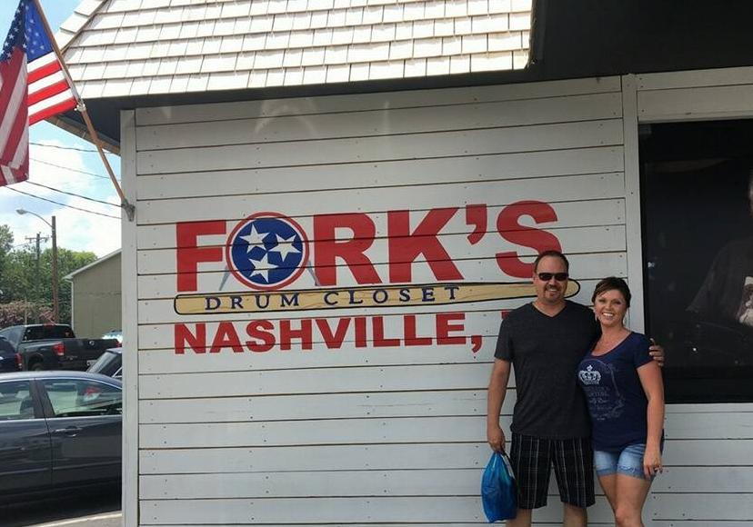 Paul and Melinda at Fork's Drum Closet