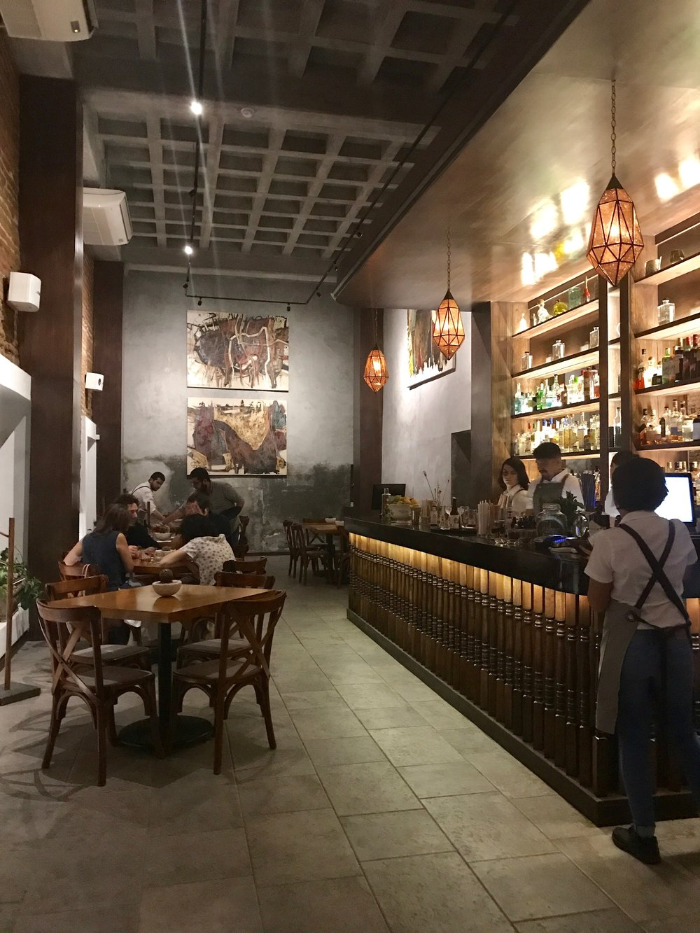 La Revolucion Comedor de Baja California    :   The name and decor evoke colonial Mexican glamour and bloodshed, however,the tacos are like tiny heaven pockets + everything is locally sourced.