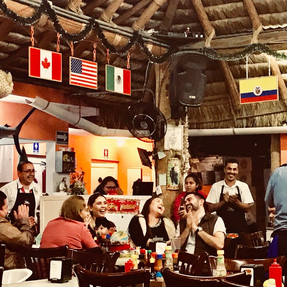 Mariscos El Toro Guero  : They have a Zagat rating and can cook shrimp in a way that makes them dissolve in your mouth.They also lift you up on a chair if its your birthday.
