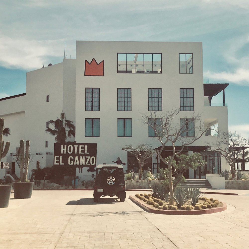 Hotel El Ganzo:   A Contemporary art gallery you can sleep in. Do they have a giant stormtrooper mural? You bet they do.