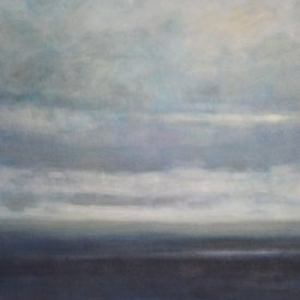 Casa Dahlia:   Abstract paintings in muted colors? Primarily seascapes?Yes please.