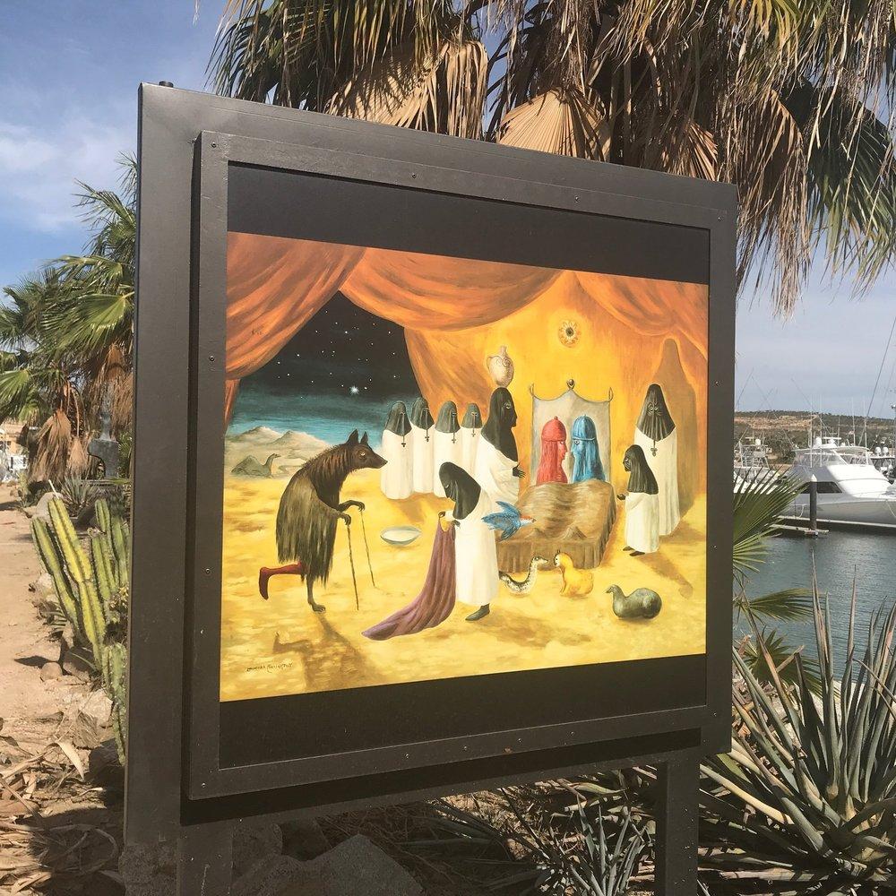 Leonora Carrington's   art along the puerto Los Cabos marina. Carrington is arguably the world's most important surrealist.