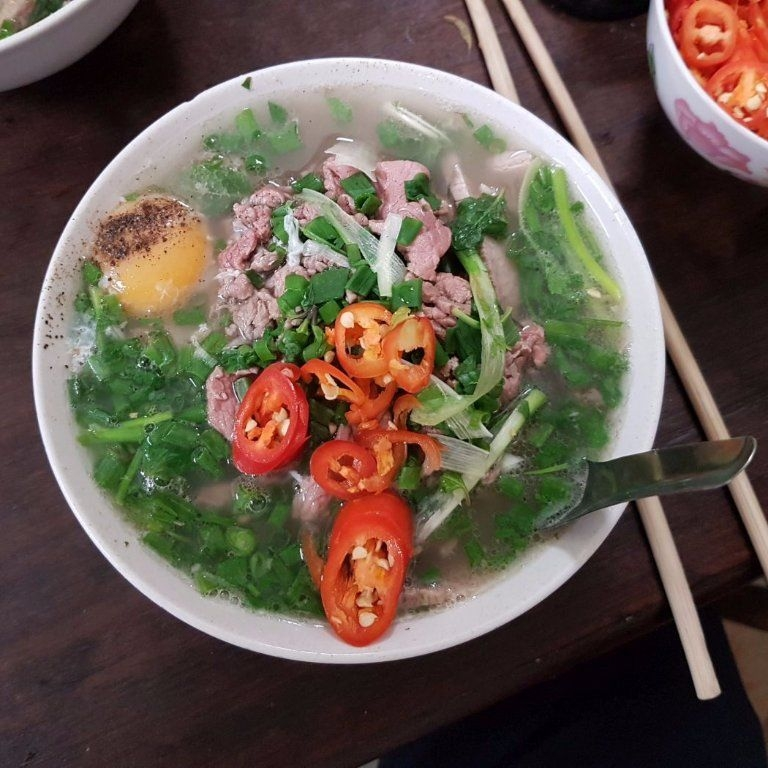 Pho Gia Truyen:  The insanely fresh peppers will leave you in a soupy haze if you are not careful. Proceed with caution, order the crispy doughnuts.