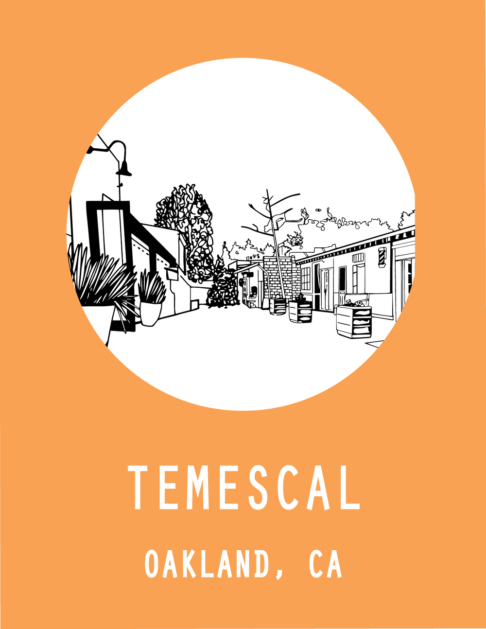 Temescal, Oakland, CA, USA  Find your next adventure in the alleys and sunshine of Temescal.