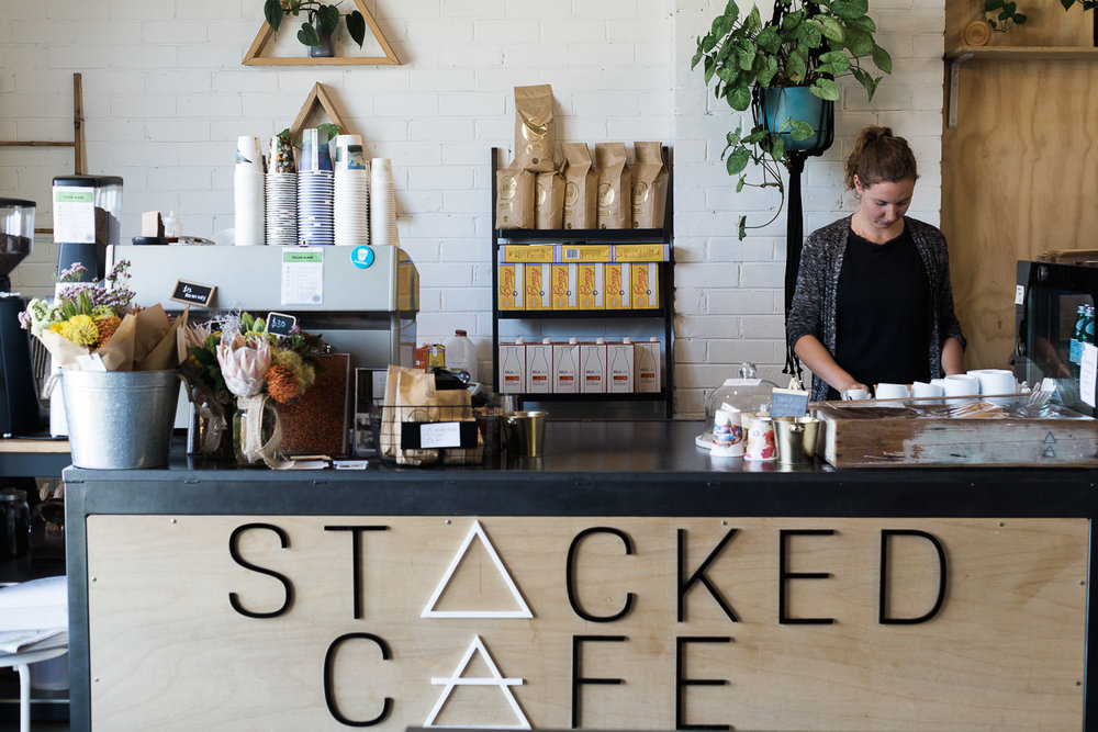 Spend some time at the Stacked Cafe, chatting with friends or browsing Stackwood's locally sourced wares.