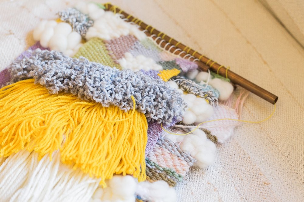 """""""I am drawn to the slow methodical nature of this craft practice. I like how working on a hand loom cannot be sped up or mass produced, it's a meditative process that forces you to slow down, take time and gradually build a piece."""