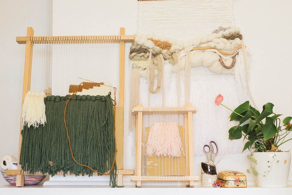 """""""Although wool is the easiest fibre to use to teach people I'm moving more and more towards recycled fabric. There is just so much fabric thrown out all the time it is such a great source."""""""