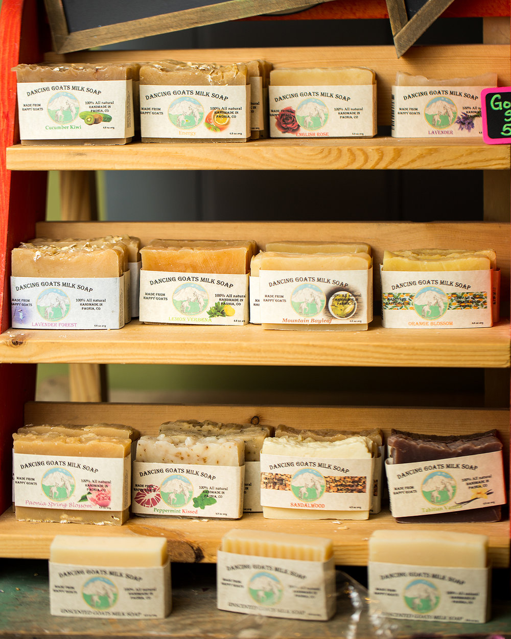 Dancing Goats Milk Soap is another wonderful Paonia company that makes great soaps and lotions