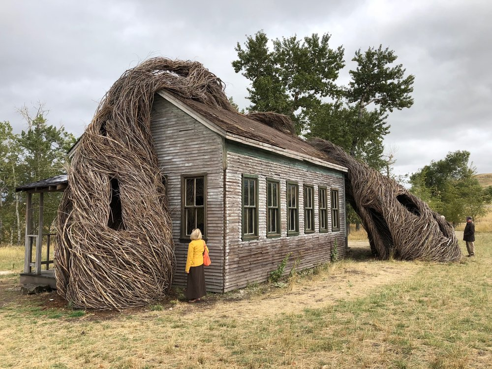 Daydreams. Patrick Dougherty's commissioned sculpture at Tippet Rise.