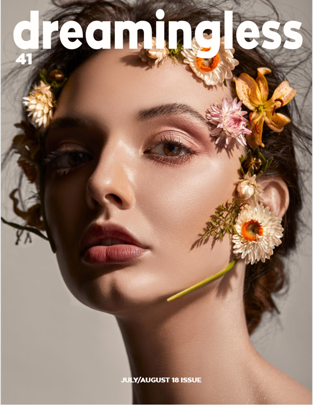A Flower Girl - Front Cover and Editorial for Dreamingless Magazine Vol. 41Photographer & Retouching: Luis Martinez (IG: @luis_martinez93)HMUA: Rocio Vielma (IG: @vivemakeup) Styling & Creative Direction: Patricio Rivera (IG: @twelvethirtyfourflowers)Model: Alexandria Bryant (IG: @alexeatsplants) from The Kim Dawson Agency