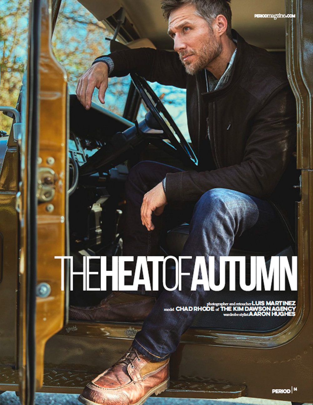 The Heat of Autumn - Editorial for Period MagazinePhotographer and Retouching: Luis Martinez (IG: @luis_martinez93)Styling: Aaron HughesModel: Chad Rohde (IG: @chad_rohde) from The Kim Dawson Agency.