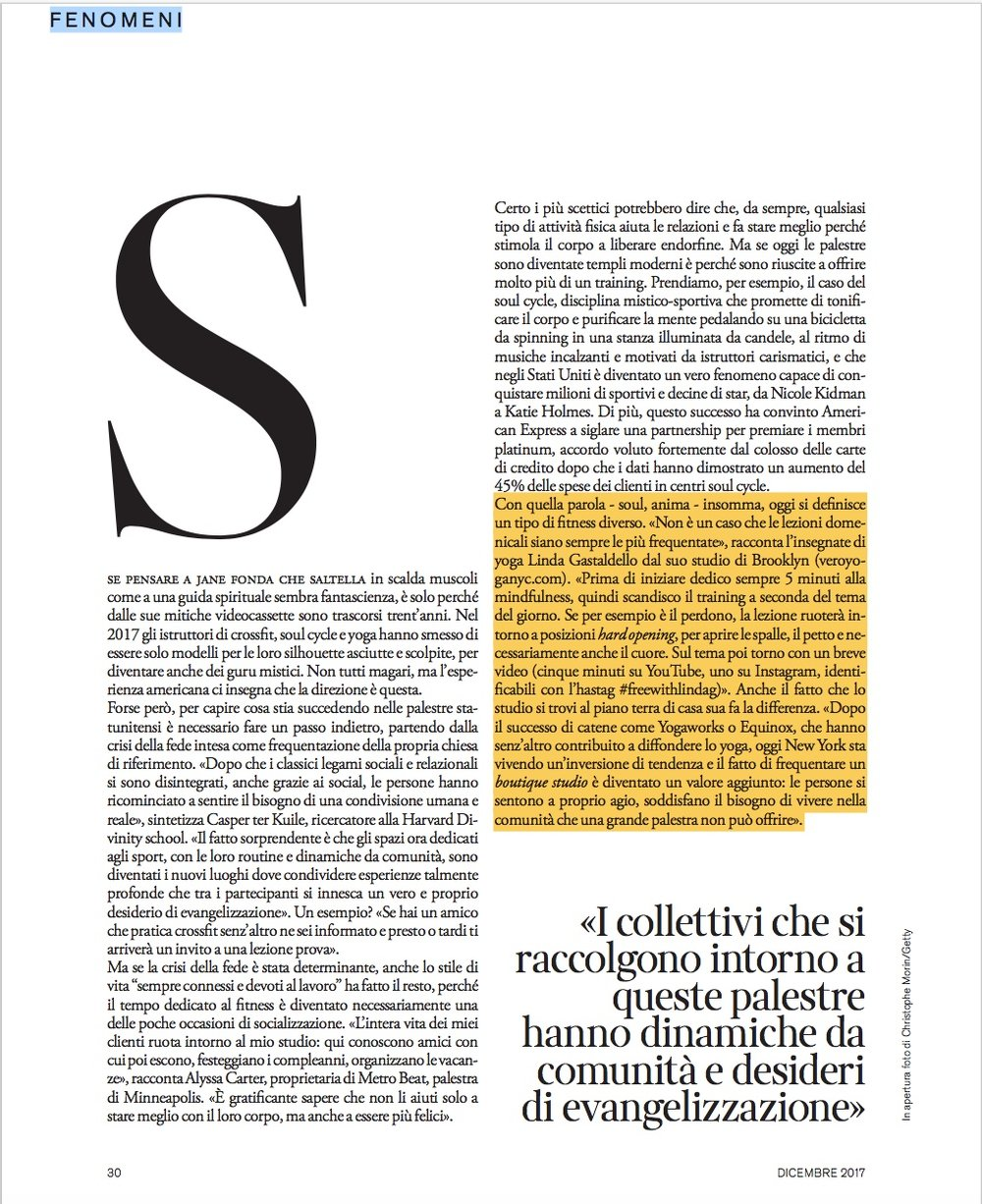 D Repubblica article